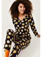 XHAN Lacivert Garfield Baskılı Örme Pijama Takımı  Lacivert